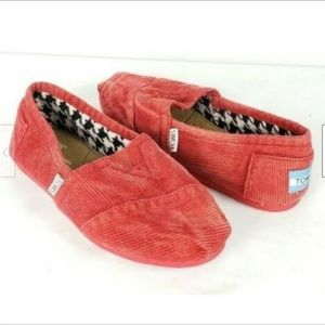 Toms Classic Flats Shoes Slip-On 6 Corduroy NEW
